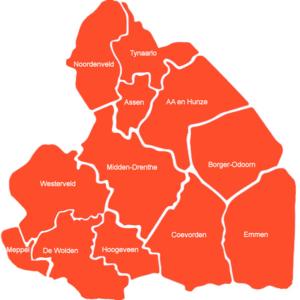 Alle gemeenten in Drenthe